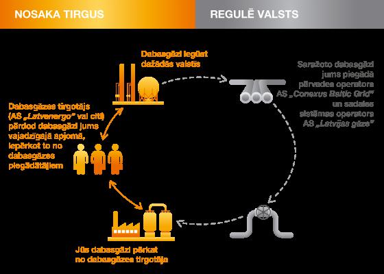Dabasgāzes tirgus shēma